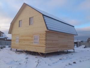 Усадка дома из бруса профилированного
